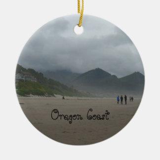 Ornamento bonito da praia do canhão da costa de