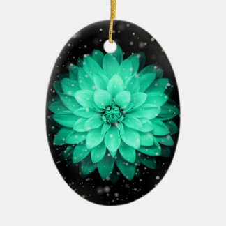 Ornamento bonito do Oval da flor