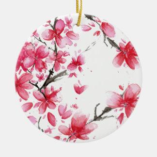 Ornamento bonito & elegante da flor de cerejeira |