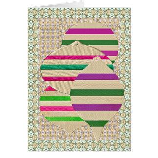 Ornamento bordados cartão