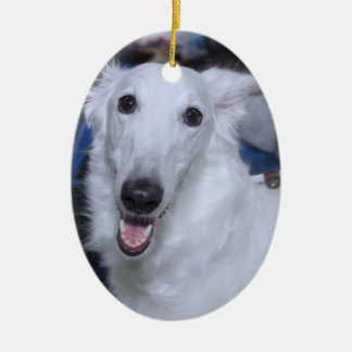 ORNAMENTO BRANCO DO BORZOI