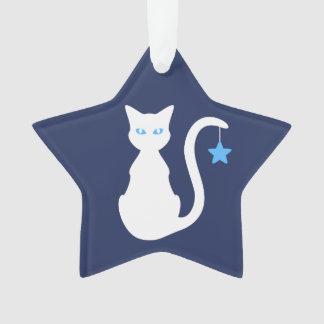 Ornamento branco do gato