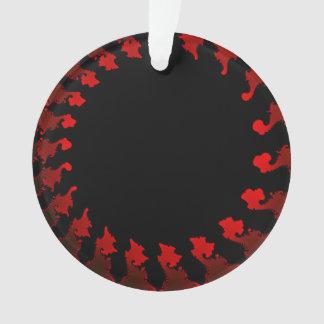 Ornamento Branco preto vermelho do Fractal