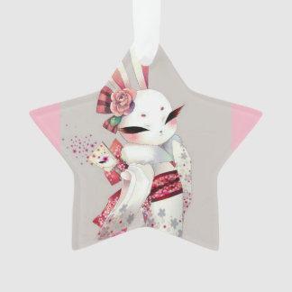 Ornamento brancos asiáticos do coelho