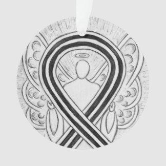 Ornamento brancos e pretos do anjo da fita da
