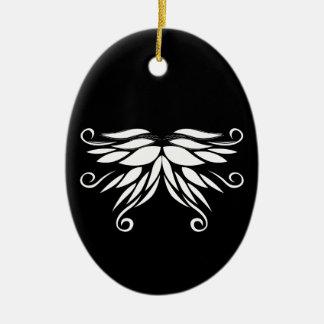 Ornamento brancos pretos do Nordic de Sibéria