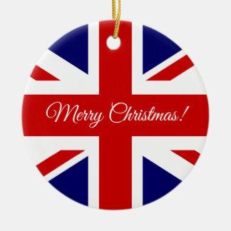 Ornamento britânico da árvore de Natal da bandeira