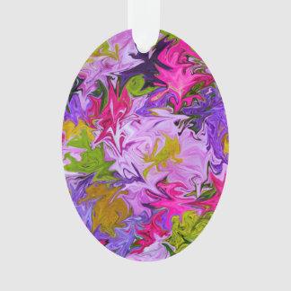 Ornamento Buquê do design floral da arte abstracta das cores