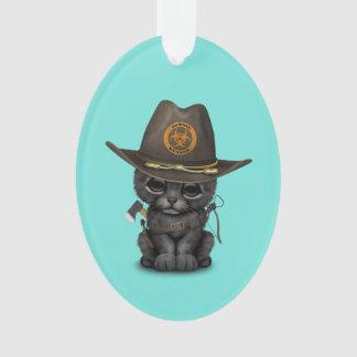 Ornamento Caçador bonito do zombi de Cub da pantera preta