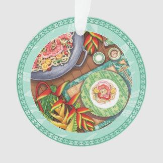 Ornamento Café da ilha - frigideira chinesa de Heliconia