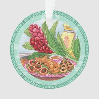 Ornamento Café da ilha - partido Pupus