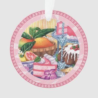 Ornamento Café da ilha - sobremesa do Chiffon da goiaba