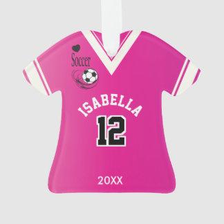 Ornamento Camisa cor-de-rosa do futebol
