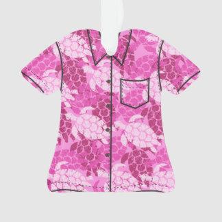 Ornamento Camisa do Hawaiian da tartaruga de mar de Honu