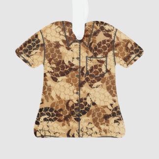 Ornamento Camisa havaiana da madeira do falso da tartaruga