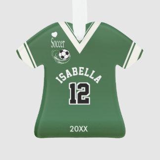 Ornamento Camisa verde escuro do futebol