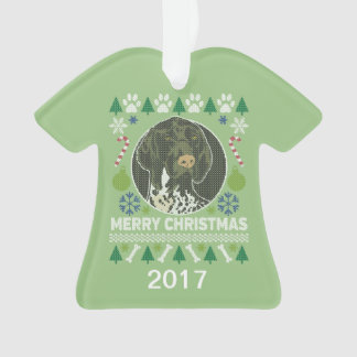 Ornamento Camisola feia alemão do Natal do ponteiro de