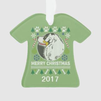 Ornamento Camisola feia australiana do Natal do cão de
