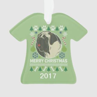 Ornamento Camisola feia do Natal de Bullmastiff