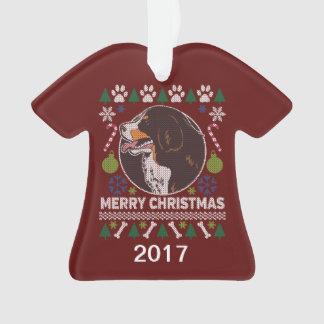 Ornamento Camisola feia do Natal do cão de montanha de