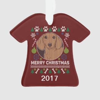 Ornamento Camisola feia do Natal do Dachshund