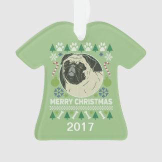 Ornamento Camisola feia do Natal do Pug