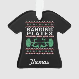 Ornamento Camisola feia personalizada do Natal do