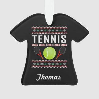 Ornamento Camisola feia personalizada do Natal do tênis