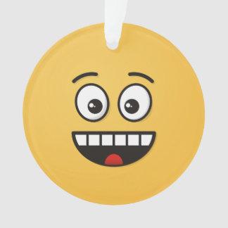 Ornamento Cara de sorriso com boca aberta