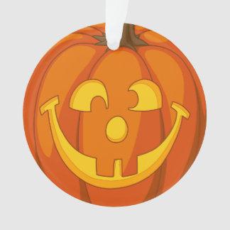 Ornamento Cara pateta feliz da abóbora do Dia das Bruxas da