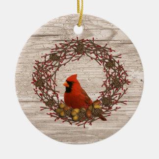 Ornamento cardinal da grinalda