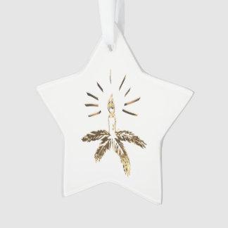 Ornamento Castiçal do olhar do ouro do Feliz Natal elegante