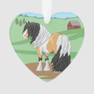 Ornamento Cavalo de esboço aciganado de Vanner do Pinto