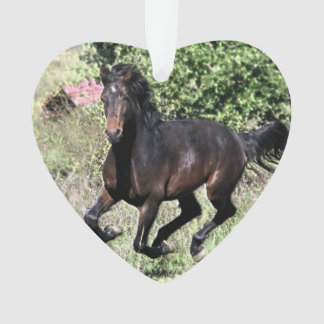 Ornamento Cavalo de galope da castanha