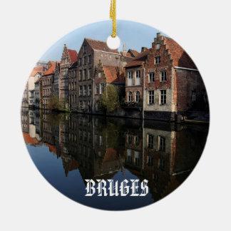 Ornamento cénico do círculo de Bruges Bélgica