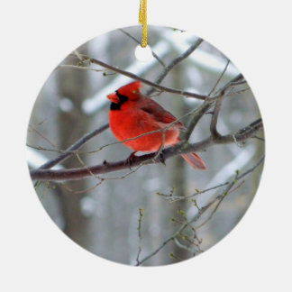 Ornamento cerâmico cardinal animador
