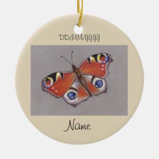Ornamento cerâmico com design 2 da borboleta de