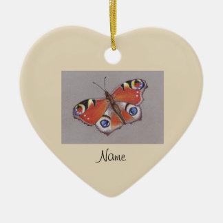 Ornamento cerâmico com design 3 da borboleta de