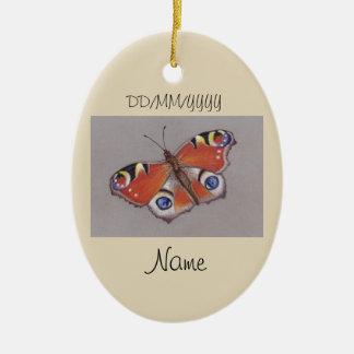 Ornamento cerâmico com design da borboleta de