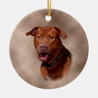 Ornamento cerâmico da árvore de Natal