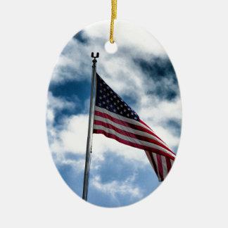 Ornamento cerâmico da bandeira americana