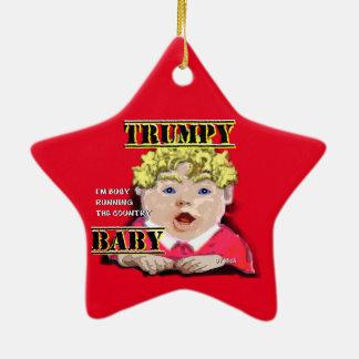 Ornamento cerâmico da estrela do bebê de Trumpy