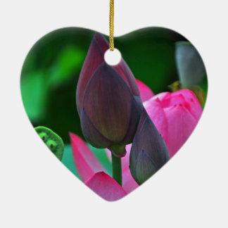 Ornamento cerâmico da flor cor-de-rosa de Lotus