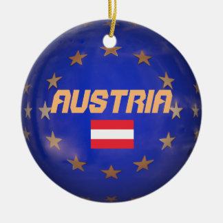 Ornamento cerâmico da União Europeia de Áustria