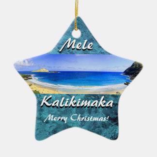 Ornamento cerâmico de Mele Kalikimaka MAUI