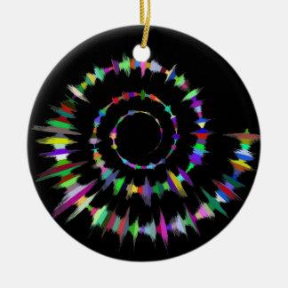 Ornamento cerâmico do círculo da espiral da cor do
