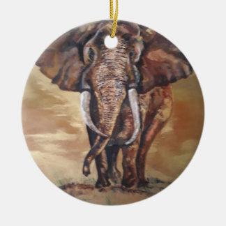 Ornamento cerâmico do elefante