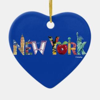 Ornamento cerâmico do feriado de New York