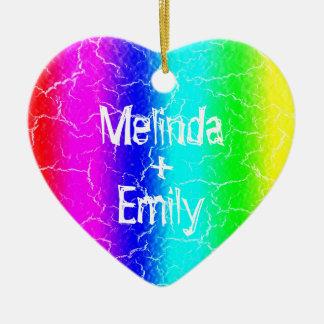 Ornamento cerâmico personalizado do arco-íris do