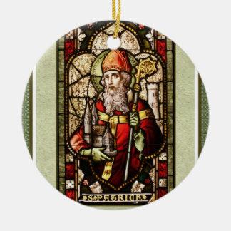 Ornamento cerâmico redondo do trevo de St Patrick